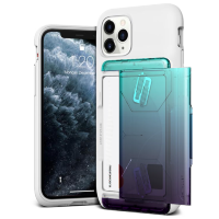 Чехол VRS Design Damda Glide Shield для iPhone 11 Pro White Green - Purple